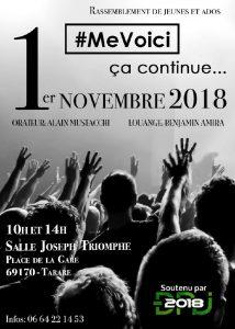 Rencontre jeunes et ados à Tarare le 1er novembre 2018